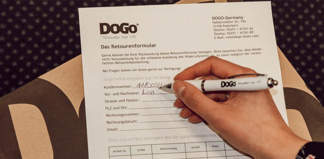 DOGO-Rücksendungsschein