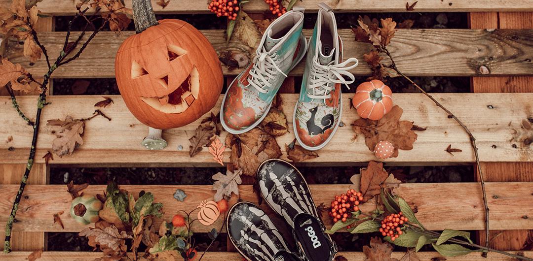 DOGO-Schuhe in gespenstischer Halloween-Atmosphäre