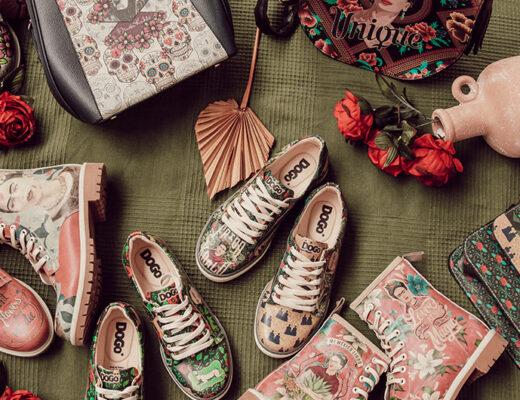 Frida Kahlo Schuhe und Taschen der Marke DOGO