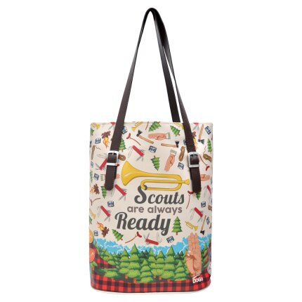 Bunte Taschen mit schönen Motiven und kreativen Designs - Dogo Tall Bag - Scouts Are Always Ready im DOGO Onlineshop bestellen!