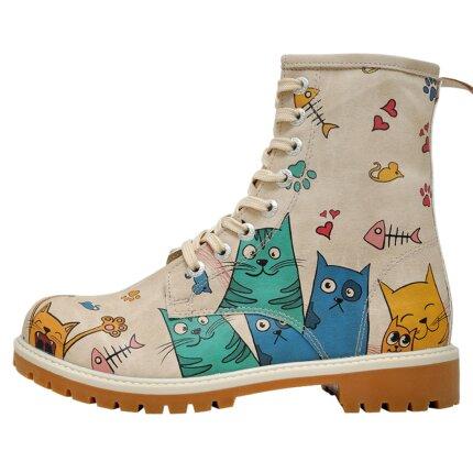 Bunte Boots mit schönen Motiven und kreativen Designs - Dogo Boots - Cat Lovers im DOGO Onlineshop bestellen!