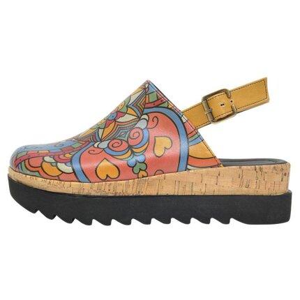 Bunte Sandalen mit schönen Motiven und kreativen Designs - DOGO Akita - India 37 im DOGO Onlineshop bestellen!
