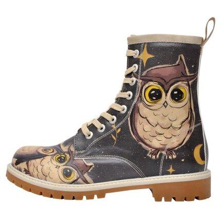 Bunte Boots mit schönen Motiven und kreativen Designs - Dogo Boots - Owls Family im DOGO Onlineshop bestellen!