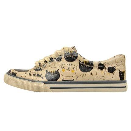 Bunte Sneaker mit schönen Motiven und kreativen Designs - Dogo Sneaker - Monochrome Cats im DOGO Onlineshop bestellen!