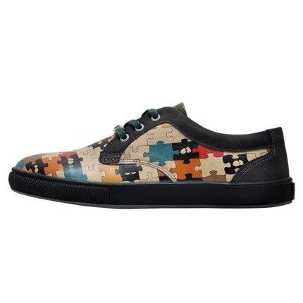 Bunte Sneaker mit schönen Motiven und kreativen Designs - Dogo Cord - In the Puzzle im DOGO Onlineshop bestellen!
