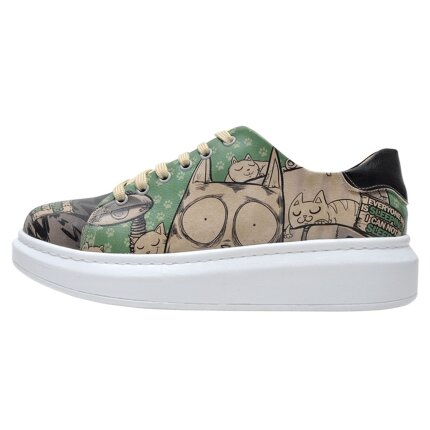 Bunte Sneaker mit schönen Motiven und kreativen Designs - Dogo Myra - Can not Sleeping im DOGO Onlineshop bestellen!