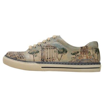 Bunte Sneaker mit schönen Motiven und kreativen Designs - Dogo Sneaker - All Roads Lead to Rome im DOGO Onlineshop bestellen!