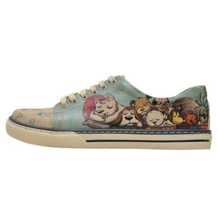 Bunte Sneaker mit schönen Motiven und kreativen Designs - Dogo Sneaker - Sleeping Dogs im DOGO Onlineshop bestellen!