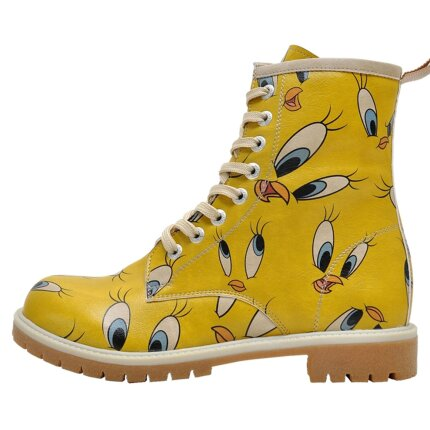 Bunte Boots mit schönen Motiven und kreativen Designs - Dogo Boots - Tweety in Yellow im DOGO Onlineshop bestellen!