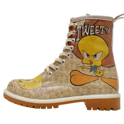 Bunte Boots mit schönen Motiven und kreativen Designs - Dogo Boots - Tweety Moods im DOGO Onlineshop bestellen!