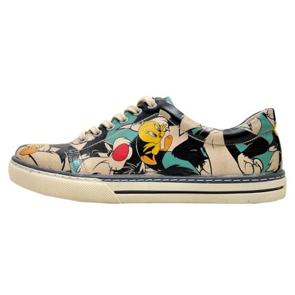 Bunte Sneaker mit schönen Motiven und kreativen Designs - Dogo Sneaker - Catch Me If You Can Tweety im DOGO Onlineshop bestellen!