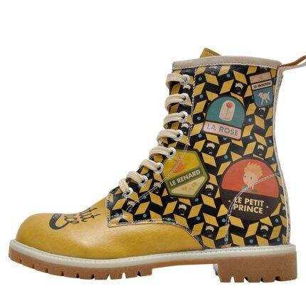 Bunte Boots mit schönen Motiven und kreativen Designs - Dogo Boots - The Yellow Side of Me Le Petit Prince im DOGO Onlineshop bestellen!