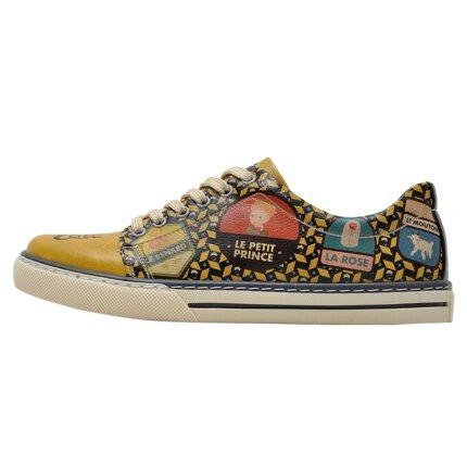 Bunte Sneaker mit schönen Motiven und kreativen Designs - Dogo Sneaker - The Yellow Side of Me Le Petit Prince im DOGO Onlineshop bestellen!