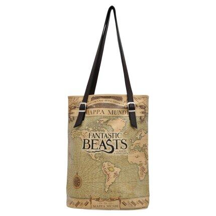 Bunte Taschen mit schönen Motiven und kreativen Designs - Bunte Taschen mit schönen Motiven und kreativen Designs - Dogo Tall Bag - Mappa Mundi Fantastic Beasts im DOGO Onlineshop bestellen!