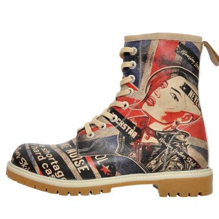 Bunte Boots mit schönen Motiven und kreativen Designs - Dogo Boots - British Punk im DOGO Onlineshop bestellen!
