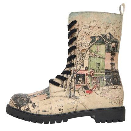 Bunte Boots mit schönen Motiven und kreativen Designs - DOGO Zipsy - Bonjour Paris im DOGO Onlineshop bestellen!
