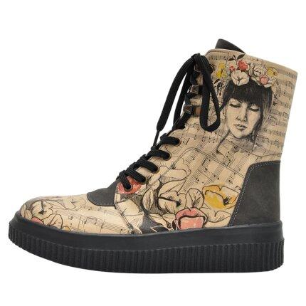 Bunte Sneaker Boots mit schönen Motiven und kreativen Designs - Dogo Future Boots - Music on World off im DOGO Onlineshop bestellen!
