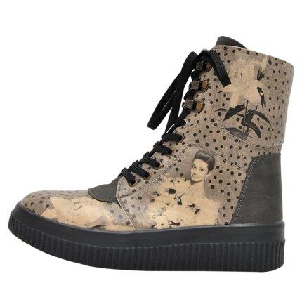Bunte Sneaker Boots mit schönen Motiven und kreativen Designs - Dogo Future Boots - Black Dress im DOGO Onlineshop bestellen!