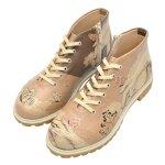 Bunte Boots mit schönen Motiven und kreativen Designs-...