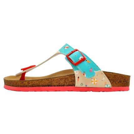 Bunte Sandalen mit schönen Motiven und kreativen Designs - DOGO Lila - A Bird's Eye View of Beach im DOGO Onlineshop bestellen!