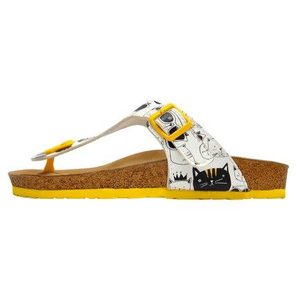 Bunte Sandalen mit schönen Motiven und kreativen Designs - DOGO Lila - Monochrome Cats im DOGO Onlineshop bestellen!