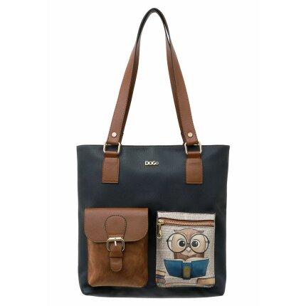 Bunte Taschen mit schönen Motiven und kreativen Designs - DOGO Multi Pocket Bag - The Wise Owl im DOGO Onlineshop bestellen!