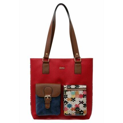 Bunte Taschen mit schönen Motiven und kreativen Designs - DOGO Multi Pocket Bag - In the puzzle im DOGO Onlineshop bestellen!