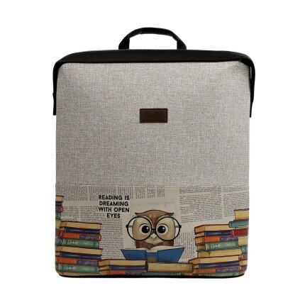 Bunte Taschen mit schönen Motiven und kreativen Designs - DOGO Slim Backpack - The Wise Owl im DOGO Onlineshop bestellen!