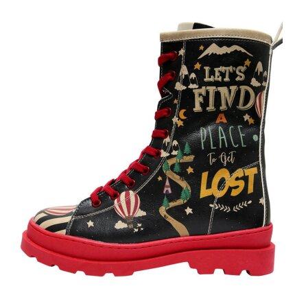Bunte Boots mit schönen Motiven und kreativen Designs - Dogo Gisele - Let's Find a Place to Get Lost im DOGO Onlineshop bestellen!