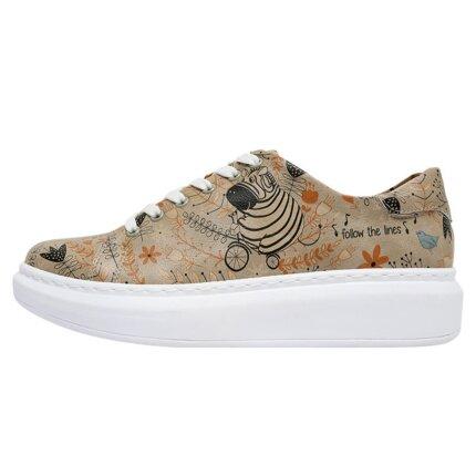 Bunte Sneaker mit schönen Motiven und kreativen Designs - Dogo Myra - Follow the Lines im DOGO Onlineshop bestellen!