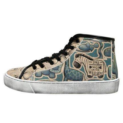 Bunte Sneaker mit schönen Motiven und kreativen Designs - Dogo Tyra - Take a Walk on the Wild Side im DOGO Onlineshop bestellen!
