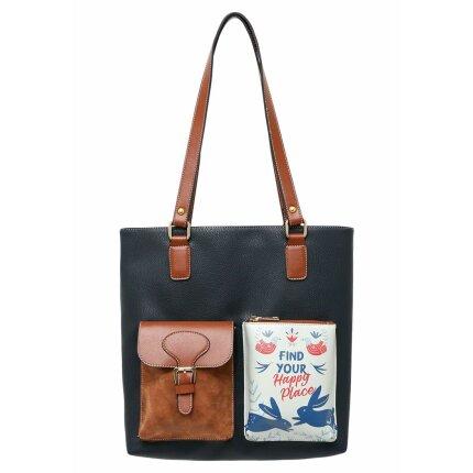 Bunte Taschen mit schönen Motiven und kreativen Designs - DOGO Multi Pocket Bag - Find Your Happy Place im DOGO Onlineshop bestellen!