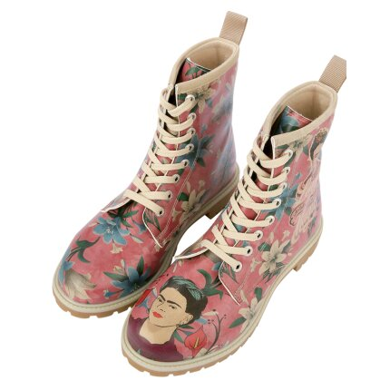 Tweety with Roses rosa 707195 Dogo Shoes Damen Stiefeletten Boots