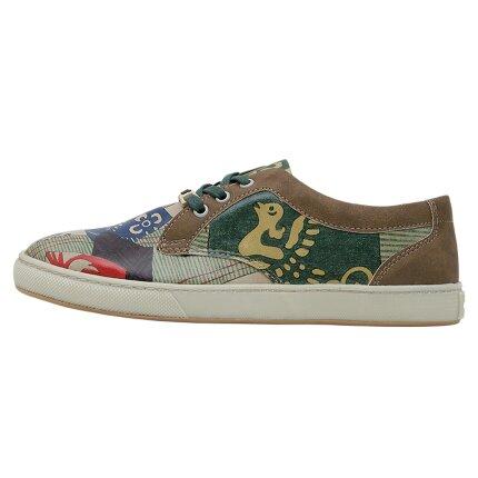 Bunte Sneaker mit schönen Motiven und kreativen Designs - Dogo Cord - Patchwork im DOGO Onlineshop bestellen!