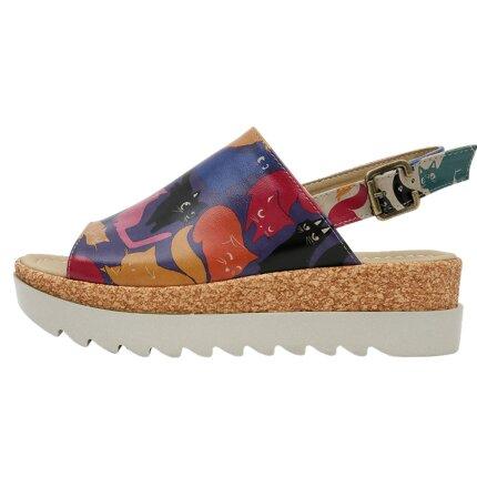Bunte Sandalen mit schönen Motiven und kreativen Designs - DOGO Gigi - Clowder im DOGO Onlineshop bestellen!