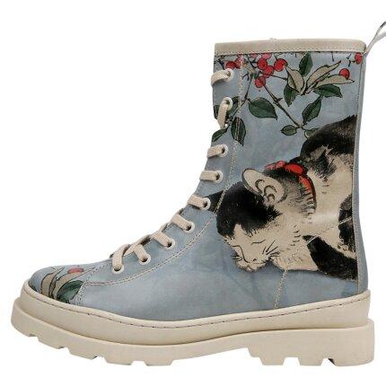 Bunte Boots mit schönen Motiven und kreativen Designs - Dogo Gisele - Sleepy Cat im DOGO Onlineshop bestellen!