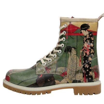 Bunte Boots mit schönen Motiven und kreativen Designs - Dogo Boots - Mornings in Tokyo im DOGO Onlineshop bestellen!